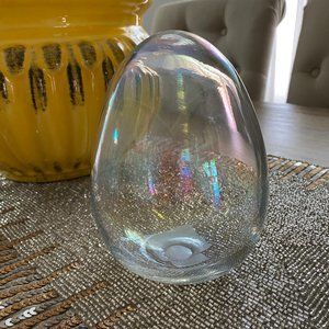 Other - EASTER SPRING EGG ART GLASS CLEAR WHITE OPAL